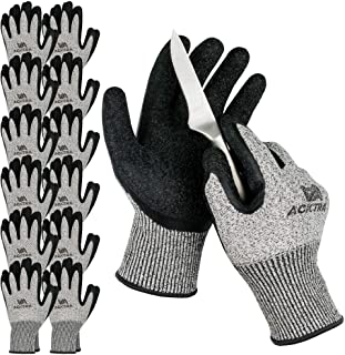 ACKTRA WG013 LEVEL 5 CUT RESISTANT WAREHOUSE SAFETY GANTS DE TRAVAIL 12 PAIRES LARGE